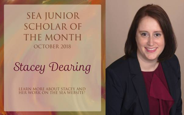 Stacey Dearing Junior Scholar of the Month Oct 2018