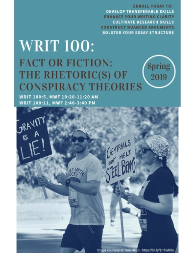 WRIT 100 spring 2019 conspiracy theories